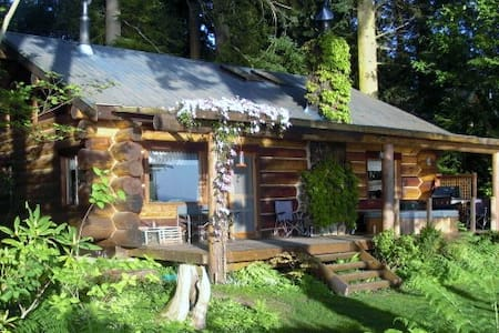 The Log Cabin on Hood Canal Bluff - House