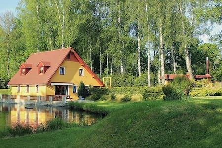 Cottage with pond - Krásná Lípa