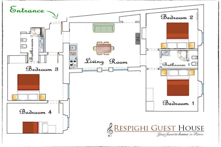 RESPIGHI Guest House - Rome - Apartment