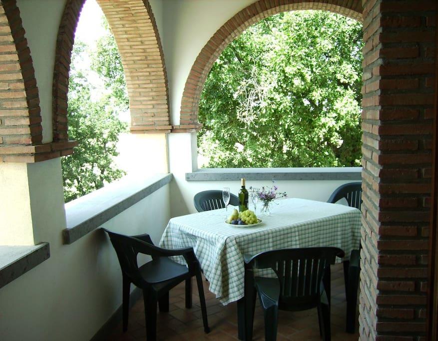 Balcony made for al fresco dining