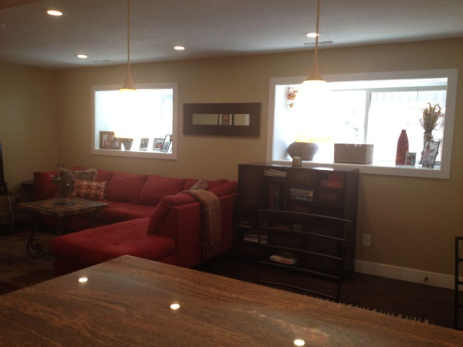 Large spacious well-lit family room