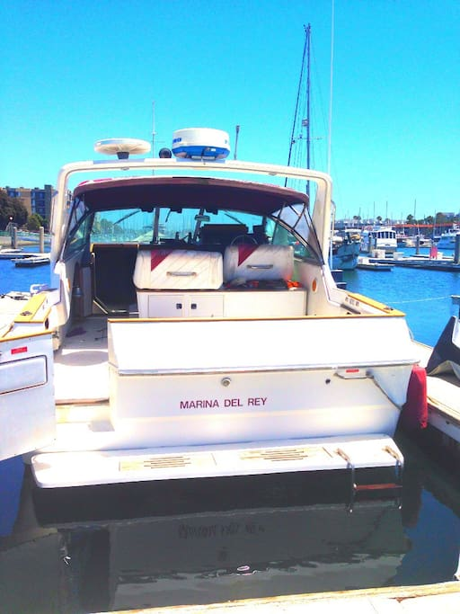 Rear view of the boat