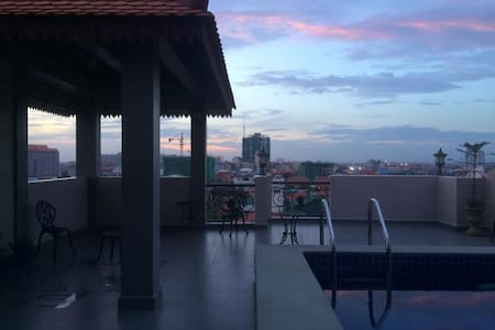 Studio with Large Rooftop Pool Space - Phnom Penh - Pis