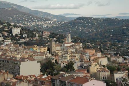 Les Lucioles, Studio indépendant vue sur Grasse - Appartement