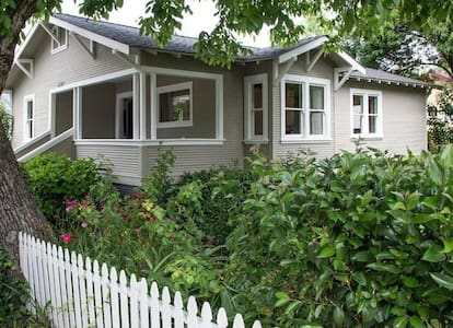 This newly renovated,  fully equipped, 3 bedroom 1921 home, sleeps maximum 6.  Complete with private garden, hot tub, patio furniture and bar-b-que.  Just steps away from all Guerneville has to offer. No in house parties please.