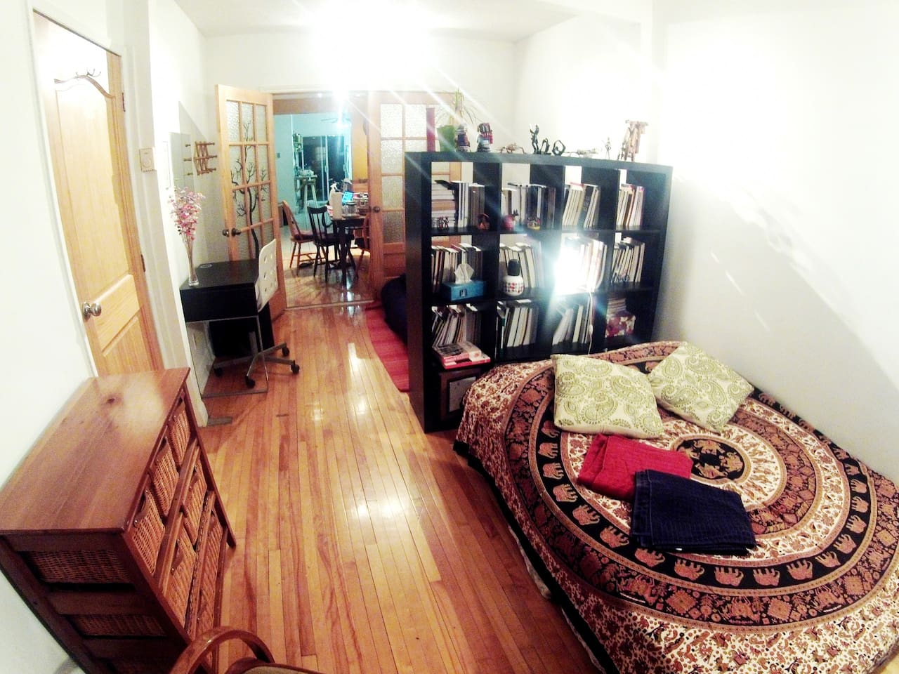 Guests room upstairs - wide angle view