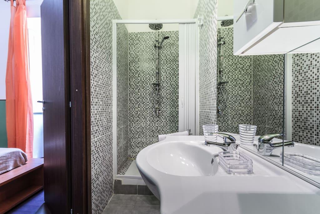 renwed bigger bathroom, shower-box