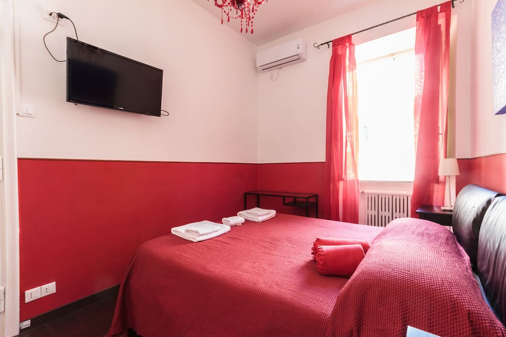 Double room wifi air conditioning TV