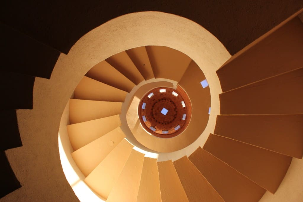 VIEW OF THE SPIRAL STAIRCASE