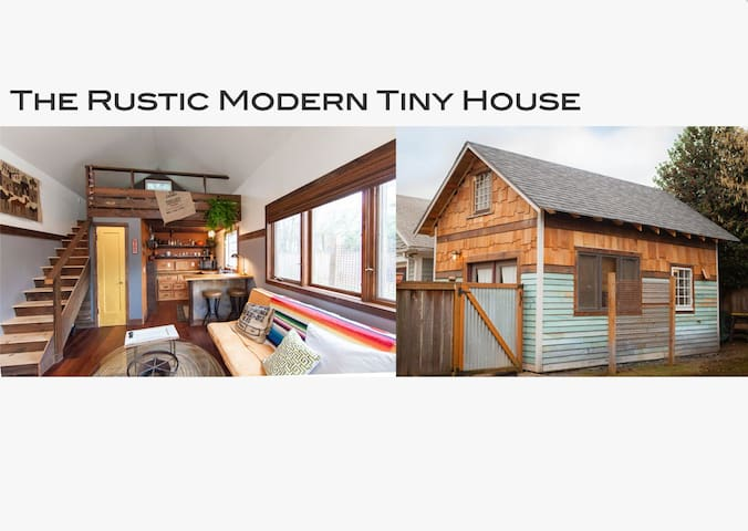 the rustic modern tiny house h user zur miete in portland tiny house mieten. Black Bedroom Furniture Sets. Home Design Ideas