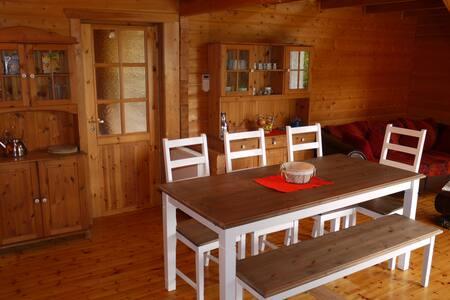 Blockhaus mit Carport,Garten,Sauna - Cabin