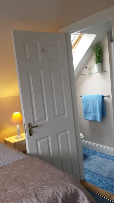 En suite bathroom (bedroom 1) power shower.