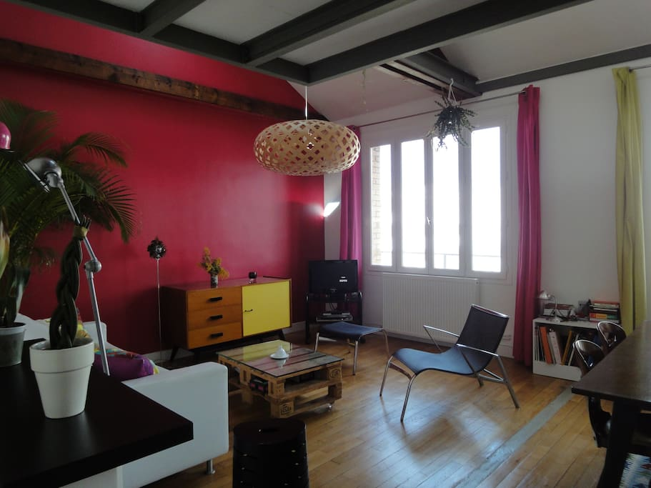 Charming attic 45m² appartment
