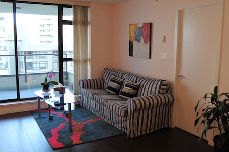 This is a spacious 2 bdrm/2 bath apartment between Lansdowne Mall and Richport Mall. Canada Line (sky train) station, grocery, popular restaurants, liquor store, banks are just 3 minutes away.  It is cozy & quite at southeast corner facing courtyard.