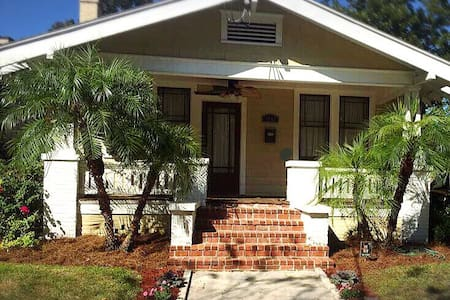 Historic 1920s Riverside Bungalow (private room) - Jacksonville - House