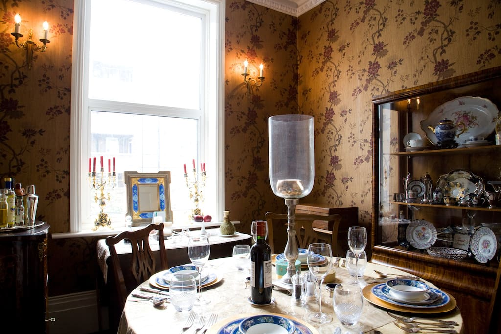 Dining Room - often when we cook there's enough to share
