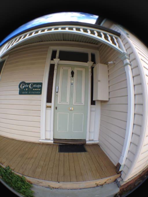 Front Door to 14B (taken with fish-eye lens)