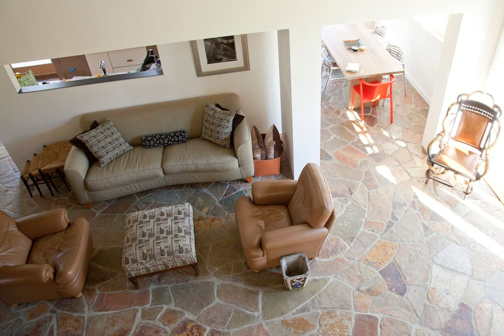 Living room as seen from above
