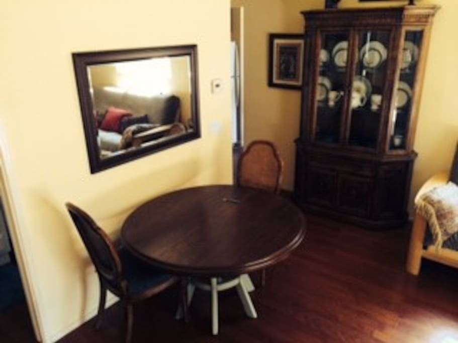 Dining room table with hutch