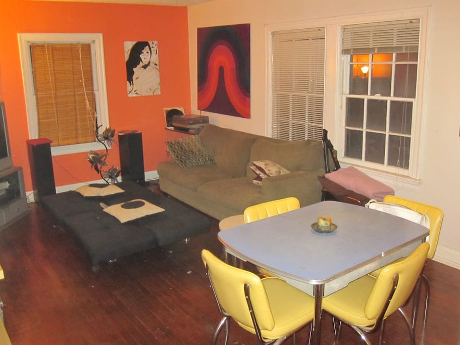 Living Room has changed there are two new couches and a different ottoman