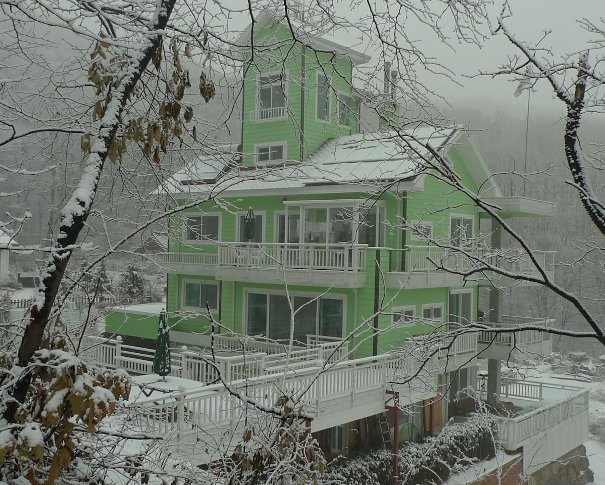 South Side View After Snow