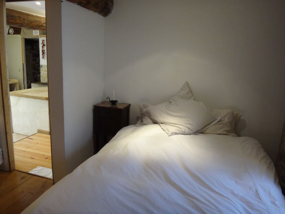 Double bed in a cozy and private bedroom