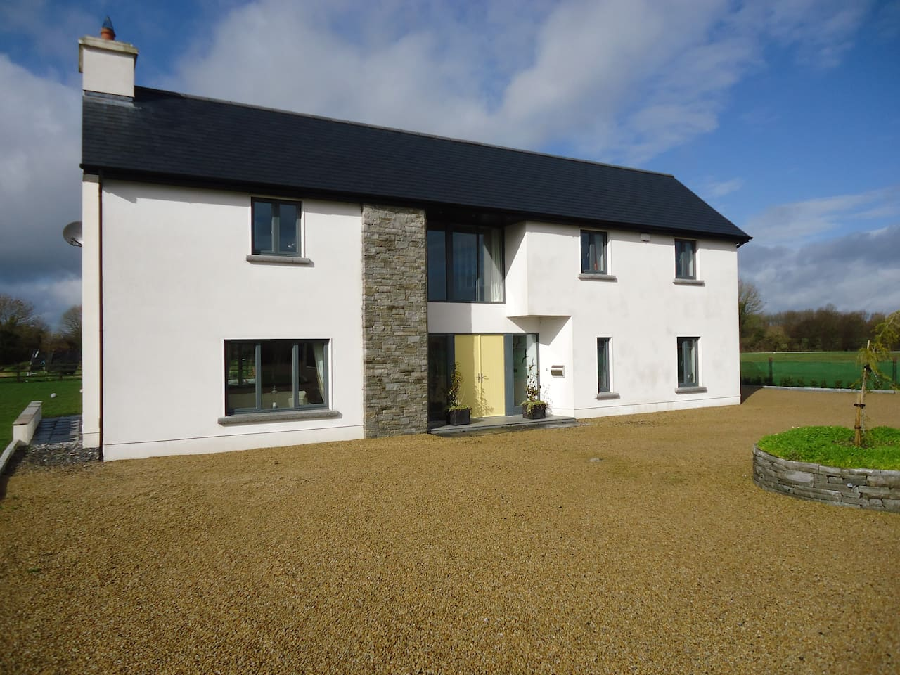 Modern, contemporary,  house in the countryside near Birr