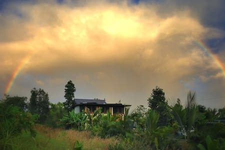Naninui Cottage is a tropical paradise, nestled amongst lush green foliage and fruit trees only 2/10ths of a mile from the ocean in Seaside Estates. This house is the perfect getaway from the hustle and bustle of the traditional vacation areas.