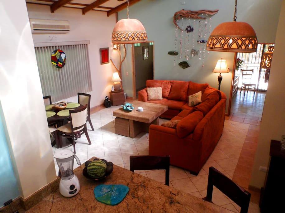 Beautifully decorated interior of Casa de Mañana!