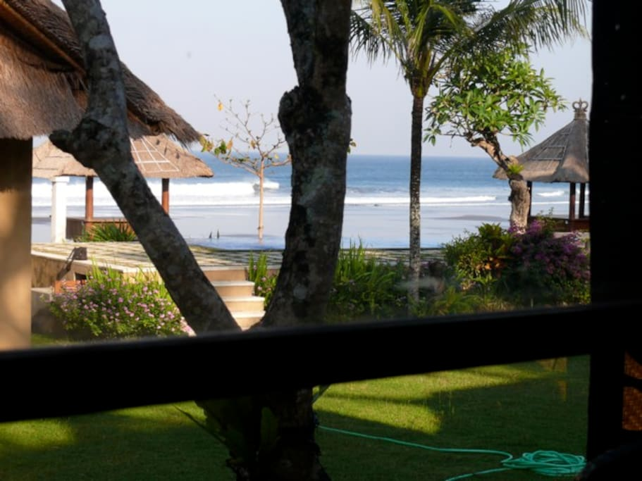 The view from the front window of your villa. Someone's gotta do it...