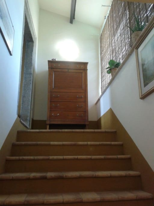 The stairs to the first floor