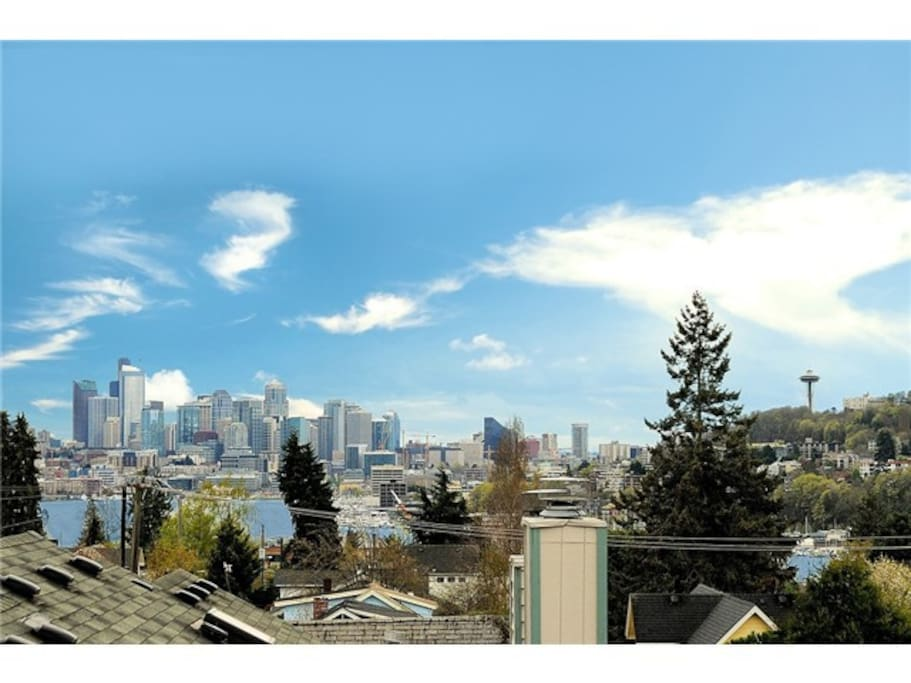 Wait for it!  Boom.  Seattle in all its' glory.  Skyline, lake union, space needle