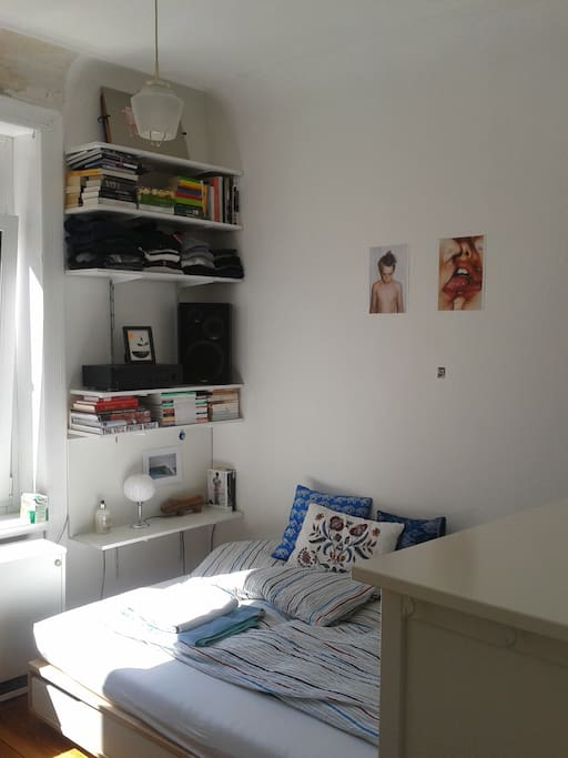 Das kleinere Zimmer, helle und freundliche 10 Quadratmeter!
