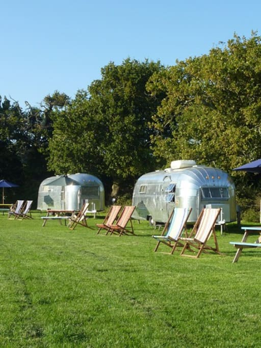 Our site - these are all our other vintage Airstreams with all trailers