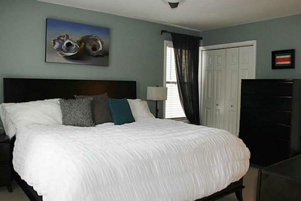 Master bedroom w/ two large closets