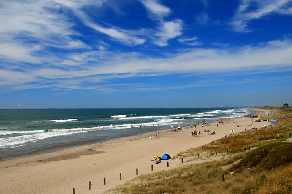 The long stretch of Papamoa beach gives plenty of distance for a good walk.
