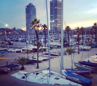 This  sailboat situated in the olympic port is a great way to spend your vacation in Barcelona, right next to the beach,t he boat is small but its enough for 2people to sleep comfortably. The location is great especially for those who love the sea!