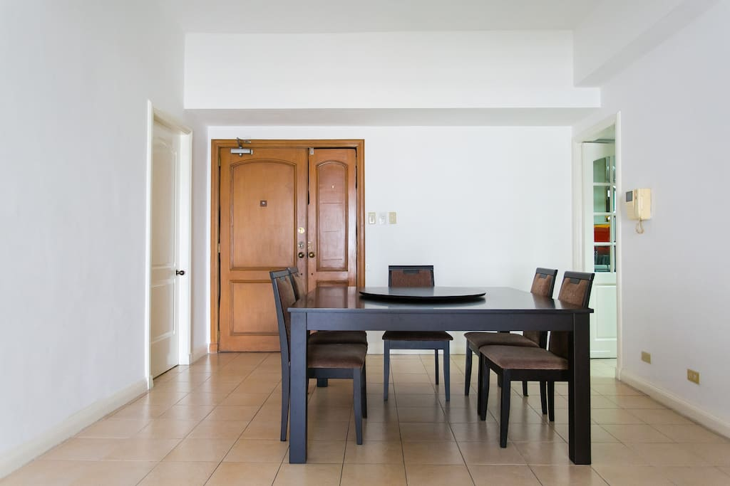 Large dining room table seats 8.