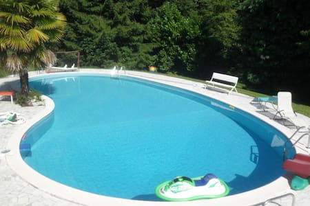 Villa Anna con piscina e parco - Porto Valtravaglia - Flat