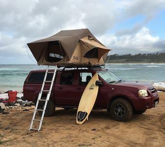 nissan frontier 4x4 quadcab,camper, rooftop tent - Tent