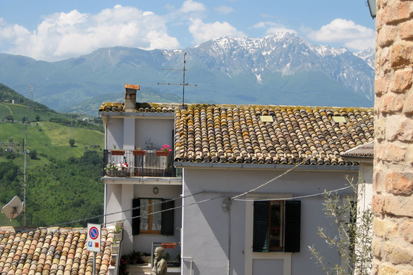View of the Gran Sasso from the house