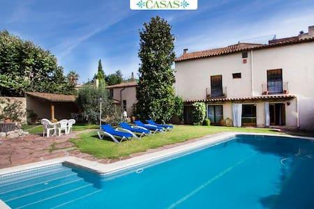 Elegante villa de Castellar en las montañas de Cataluña, a 35 km de la playa y Barcelona - Barcelona Region - Casa de camp