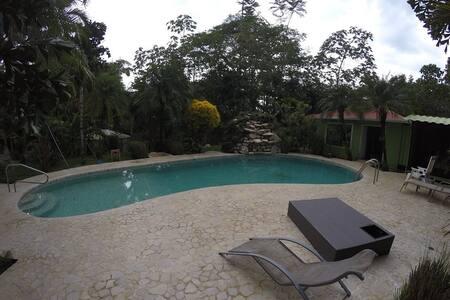 Bungalow nice design, large pool tropical garden - Jaco - Bungalow