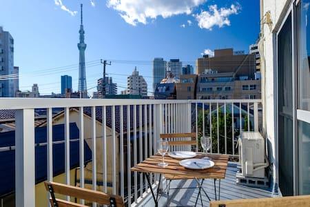 2.Nostalgic Tokyo stay near SkyTree