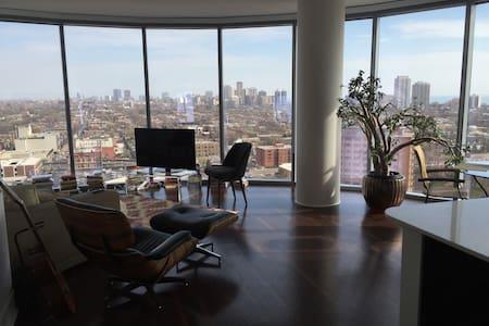 City Skyline and Lake View Apt - Apartment
