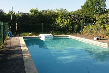 Maison de caractere avec piscine - Montoussin - Huis