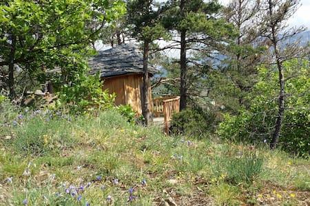 Cabane perchée en pleine nature été hiver - Puumaja