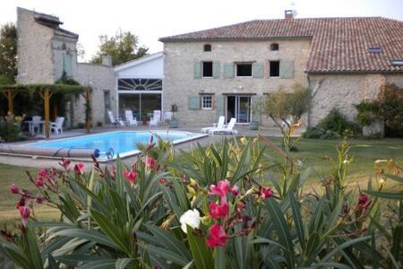 Gite près d'Albi et Toulouse avec piscine chauffée - Maison