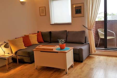 Large studio with balcony, parking - Apartment
