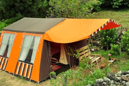 AbbyVille ^ Comfortable garden camp ^ Passionstrt. - Tent